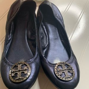 Tory Burch Navy Blue Ballet Flat Sz 6